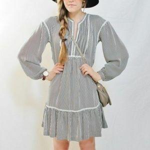 NWT Banana Republic Stripe Pintuck Babydoll Dress